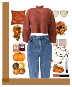 """""""Harvest"""" by stantaramusicuk ❤ liked on Polyvore featuring Improvements, Bobbi Brown Cosmetics, Karen Walker, JLA Home, Miss Selfridge, WithChic, WoodWick, Pier 1 Imports and polyvorecontest"""