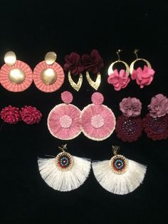 Jewelry For Her, Cute Jewelry, Jewelry Making, Fashion Earrings, Earrings Handmade, Jewelery, Crochet Earrings, Drop Earrings, Life Hacks