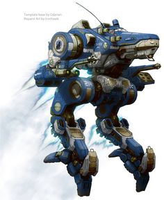 Come here if you have a mecha addiction, or you want to have a mecha addiction ^_^. Military Robot, Futuristic Robot, Fighting Robots, Starship Troopers, Alien Concept Art, Painting Competition, Space Travel, Space Marine, War Machine