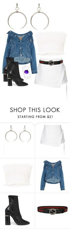 """Untitled #222"" by stardust ❤ liked on Polyvore featuring Luv Aj, Dion Lee, Balenciaga, 3.1 Phillip Lim, Gucci and summerbooties"