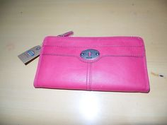 Fossil Marlow Zip Clutch Flamingo Pink with Fossil Authentication Card  #Fossil #Clutch