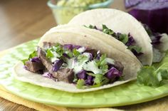 Recipe for authentic Mexican Santa Monica Street Tacos made with beef and corn tortillas.  Perfect Cinco de Mayo or Taco night!