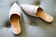 Shop the Look from Ellen on ShopStyleThese pink suede mules are a must-have in your fall wardrobe! Pink Flats, White Flats, Waterproof Shoes, Fall Wardrobe, Types Of Shoes, Buy Shoes, Wedding Shoes, Leather Shoes, Black Shoes