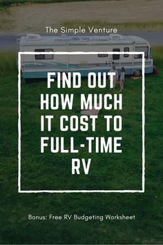 Create your monthly RV budget with this free worksheet