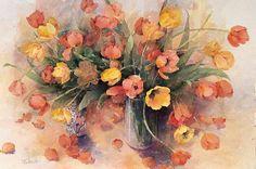 Shirley Felts, tulips