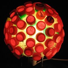 recycled bottle cap lights from recyclart captivate4