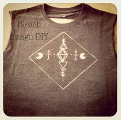 Another Spark & Thistle DIY, bleach design on a T-shirt. So much fun to do!