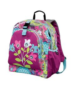 Take a look at this Purple Fun Flowers Be-Right-Back Backpack by Hanna Andersson on #zulily today!
