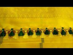 New saree kuchu design // Nandana Creations // Saree Kuchu New Designs, Saree Tassels Designs, Silk Saree Blouse Designs, Saree Blouse Patterns, Hand Work Blouse Design, Simple Blouse Designs, Latest Silk Sarees, Silk Bangles, Simple Sarees