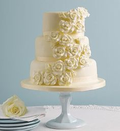 Classic Rose Assorted Wedding Cake