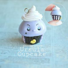 Ursula Cupcake I have one last custom Disney cupcake to show y'all and then I'll be working on other Disney characters. :) Suggestions would be so so awesome!! ❤❤ #polymerclay #polymerclaycharms #claycharms #clay #charms #jewelry #food #foodjewelry #foodie #kawaiifood #cutefood #pendant #handmade #diy #etsy #crafts #cupcake #disney #waltdisneyworld #ursula #thelittlemermaid #octopus #mermaid #ocean #kawaiicharms #kawaii #cute