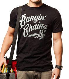 BANGIN' CHAINS, $17.00 by Mando Klank. Disc Golf T-shirts