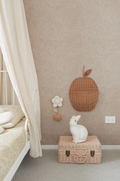 Prettiest soft pink and cream wallpaper