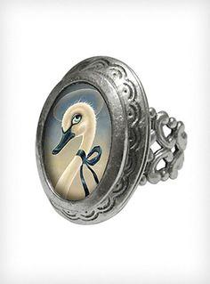 Swan Song Locket Ring | PLASTICLAND