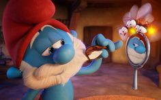 Download wallpapers Smurfs, The Lost Village, 2017, Smurfs 3, Papa Smurf