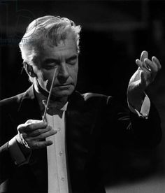 Herbert von Karajan conducting with baton. Herbert Von Karajan, Art Of Noise, Gustav Mahler, Leonard Bernstein, Classic Jazz, Music Film, Pop Singers, Conductors, Classical Music