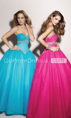 Sleeveless Tulle Beaded Ball Gown Empire Lace-up Prom Dress Affordable Prom Dresses, Best Prom Dresses, Prom Dresses Blue, Cheap Prom Dresses, Quinceanera Dresses, Nice Dresses, Wedding Dresses, Dress Prom, Awesome Dresses