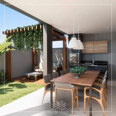 Inspiração - Mesa madeira com pé de ferro preto Beautiful Home Gardens, Beautiful Homes, Rustic Pergola, Backyard Patio, Home Interior Design, Future House, Outdoor Living, House Plans, Sweet Home