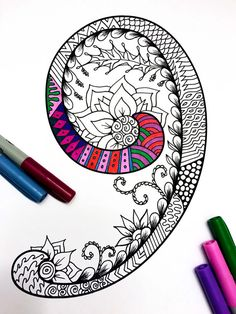Harrington Font – Printable Zentangle Alphabet & Number Coloring Pages Sketchbook Drawings, Doodle Drawings, Doodle Art, Cartoon Drawings, Sketches, Colouring Pages, Adult Coloring Pages, Coloring Books, Doodle Patterns