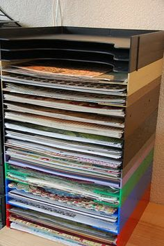 vinyl record holder!  will fit 12x12 paper???