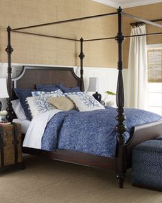 """""""Sag Harbor"""" Bed Linens by Barclay Butera Lifestyle Luxury Bedding at Horchow. Might go with the blue?"""
