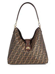 Fendi Zucca Small Hobo Bag