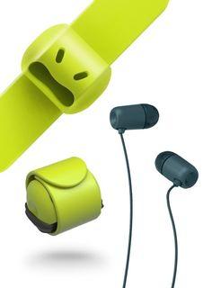 2PC Cord Organizer Headset Headphone Earphone Wrap Winder Cowhide Leather Hot