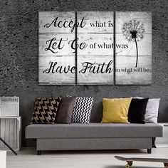 Have Faith Multi Panel Canvas Wall Art by ElephantStock is printed using High-Quality materials for an elegant finish. We are the specialists in Modern Décor canvas prints and we offer 30 day Money Back Guarantee Family Wall Decor, Room Wall Decor, Diy Wall Decor, Bedroom Wall, Large Wall Decorations, Bed Wall, Girls Bedroom, Bedrooms, Large Wall Art