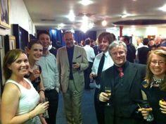 Left to right: Anny Perry, Jenni Hill, Jared Shurin, John Berlyne. Right to left: Catherine Hemelryk, Simon Gilmartin
