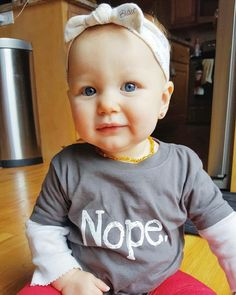 "So Fetch Designs on Instagram: ""This gorgeous blue eyed babe is rockin' our nope shirt! Use code: BOOYEAH20 for 20% off at checkout."""