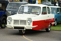 The Reliant Regal was a small three-wheeled car manufactured from 1953 until 1973 by the Reliant Motor Company in Tamworth, England. (wikipedia)