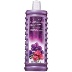 USE:  Avon BUBBLE DELIGHT Dark Orchid  Raspberry Bubble Bath