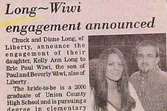 15 Wedding Announcements From Couples With Deeply Unfortunate Names