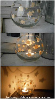 lanterne aux étoiles dans du craft