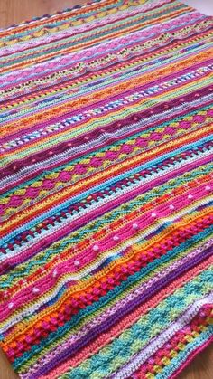 Crochet blanket, will use softer & fewer colours