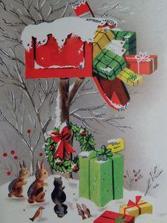 1950s Gift Stuffed Mailbox