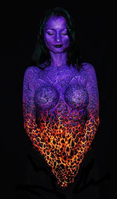 body paint volcan | ▫ DaveH ▫
