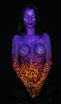 body paint volcan | ▫ DaveH ▫