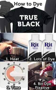 How to dye your clothes a true black with Rit Dye.