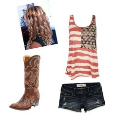 """Merica, created by tayszebras on Polyvore"