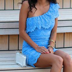 Blue lace!  Gorgeous!