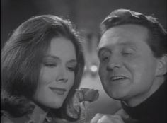 """Patrick Macnee as John Steed and Diana Rigg as Emma Peel in the original """"The Avengers"""" TV series, which ran from 1961 to 1969"""