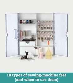 10 types of sewing-machine feet (and when to use them)