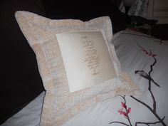 Wedding pillow - Wilco song quote  Personalized for couple that got engaged at a Wilco concert