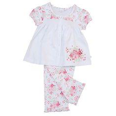 Pijama de manga corta de Mini Vanilla, rosa y blanco Baby Kids Clothes, Toddler Girl Outfits, Baby Girl Dresses, Baby & Toddler Clothing, Toddler Dress, Baby Dress, Kids Outfits, Childrens Pyjamas, Kids Pajamas