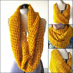 infinity scarves in the shop at Kathryn Greene Crafts on Etsy!