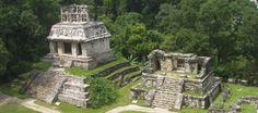 Mayan Ruins-Palenque. Site has ruins broken down by location.