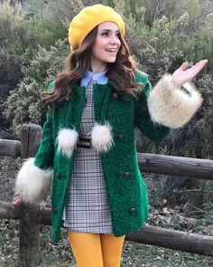 """Rosanna Pansino dressed as a """"Jet Setter"""" in Escape The Night 3 Escape The Night, Divas, Librarian Chic, Joey Graceffa, Cute Winter Outfits, Retro Look, 70s Fashion, Fashion Weeks, Night Outfits"""
