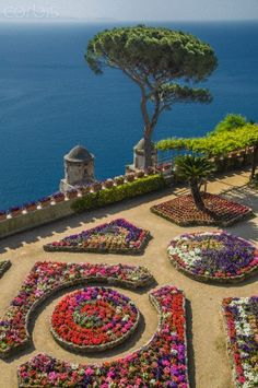 Church on step hillside over Amalfi Coast, Ravello, Campania, Italy
