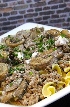 "Poor Man's Stroganoff   ""Very rich, very good. NO LEFTOVERS."" #cheaprecipes #cheapmeals #budgetfriendly #budgetrecipes #frugalcooking #frugalmeals #cheapdinnerideas #cheap #budget #economical #frugal Frugal Meals, Budget Meals, Greek Seasoning, Stroganoff Recipe, Cheap Recipes, Cheap Dinners, How To Cook Eggs, Ground Beef, Breakfast Recipes"